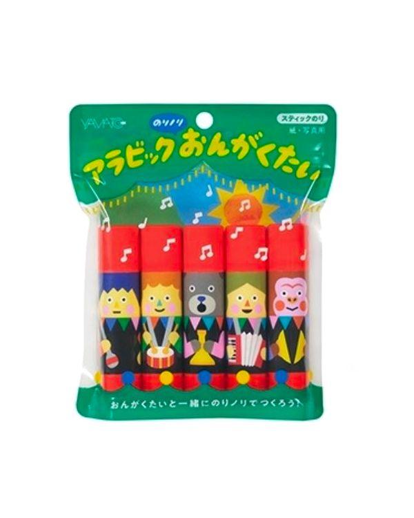 Yamato glue stick quintet set Tupera Tupera